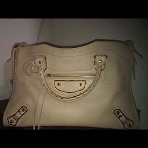 Balenciaga Medium Leather Satchel
